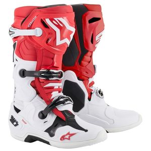 Bottes Cross Alpinestars Tech 10 Red White Black 2019