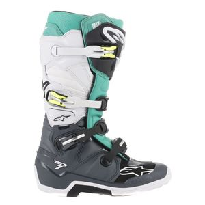 Bottes Cross Alpinestars Tech 7 Dark Gray Teal White 2019