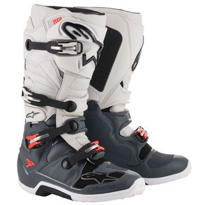 Bottes cross TECH 7 - DARK GRAY LIGHT GRAY RED FLUO 2021 DARK GRAY LIGHT GRAY RED FLUO