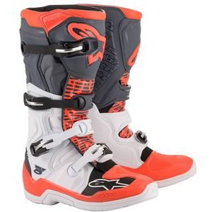 Bottes cross TECH 5 - WHITE GRAY RED FLUO 2021 White Gray Red Fluo