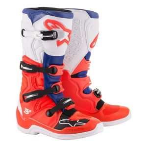 Bottes cross TECH 5 - RED FLUO BLUE WHITE 2021 Red Fluo Blue White