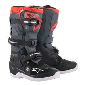 Bottes Cross Alpinestars Tech 7s Black Dark Gray Red Fluo 2019