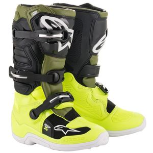 Bottes Cross Alpinestars Tech 7s Yellow Fluo Military Green Black 2019