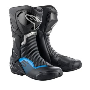 Bottes SMX 6 V2  Black Gun Metal Blue