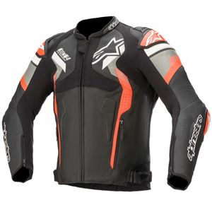 Blouson Alpinestars ATEM V4 Black Mid Gray Red Fluo