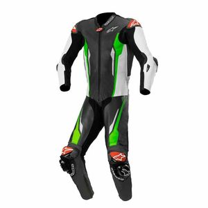 Combinaison RACING ABSOLUTE - TECH-AIR® COMPATIBLE  Black White Green Fluo