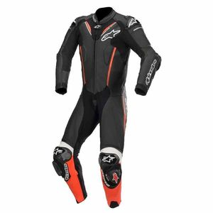 Combinaison ATEM V3 - 1 PIECE - FLUO  Black Red Fluo White