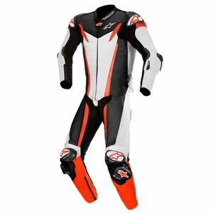 Combinaison GP TECH V3 - TECH AIR COMPATIBLE - FLUO  White Black Red Fluo