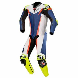 Combinaison GP TECH V3 - TECH AIR COMPATIBLE - FLUO  Blue White Red Fluo