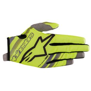 Gants cross YOUTH RADAR YELLOW FLUO BLACK  Yellow Fluo Black
