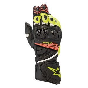 Gants GP PLUS R V2  Black Yellow Fluo Red Fluo