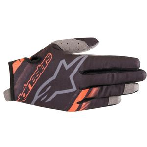 Gants cross RADAR BLACK ORANGE FLUO 2019 Black Orange Fluo