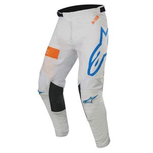 Pantalon cross RACER TECH ATOMIC COOL GRAY MID BLUE ORANGE FLUO 2019 Cool Gray Mid Blue Orange Fluo