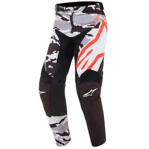 Pantalon cross YOUTH RACER TACTICAL BLACK GRAY CAMO RED FLUO  Black Gray Camo Red Fluo