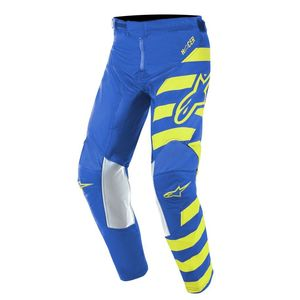 Pantalon cross YOUTH RACER BRAAP BLUE YELLOW FLUO  Blue Yellow Fluo