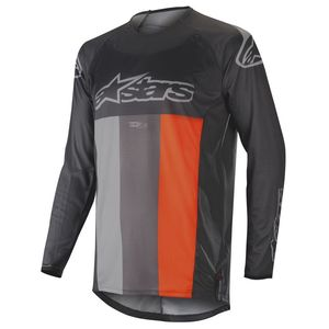 Maillot Cross Alpinestars Techstar Venom Anthracite Gray Orange Fluo 2019