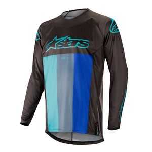 Maillot Cross Alpinestars Techstar Venom Black Turquoise Blue 2019