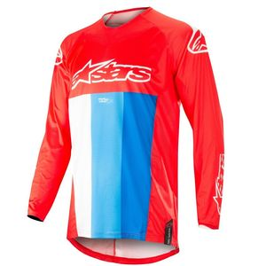Maillot Cross Alpinestars Techstar Venom Red White Blue 2019