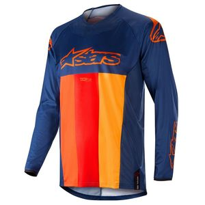 Maillot Cross Alpinestars Techstar Venom Dark Blue Red Tangerine 2019