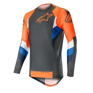 Maillot cross SUPERTECH ANTHRACITE ORANGE FLUO 2019 Anthracite Orange Fluo