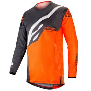 Maillot cross TECHSTAR FACTORY ANTHRACITE ORANGE FLUO 2019 Anthracite Orange Fluo