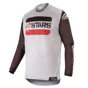 Maillot Cross Alpinestars Racer Tactical Black Gray Burgundy 2019