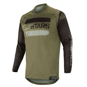 Maillot Cross Alpinestars Racer Tactical Black Military Green 2019