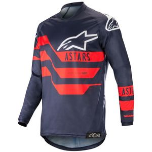 Maillot Cross Alpinestars Racer Flagship Dark Navy Blue Red 2019