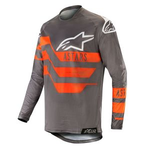 Maillot Cross Alpinestars Racer Flagship Mid Gray Anthracite Orange Fluo 2019