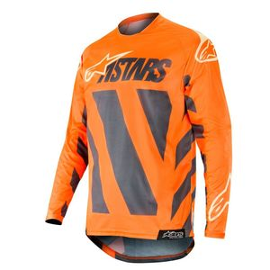 Maillot cross RACER BRAAP ANTHRACITE ORANGE FLUO SAND 2019 Anthracite Orange Fluo Sand