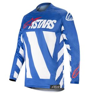 Maillot cross RACER BRAAP BLUE WHITE RED 2019 Blue White Red