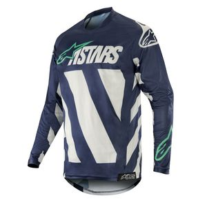 Maillot Cross Alpinestars Racer Braap Cool Gray Dark Navy Teal 2019