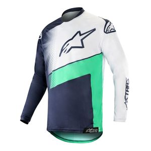Maillot Cross Alpinestars Racer Supermatic Dark Navy Teal White 2019