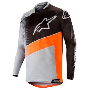 Maillot Cross Alpinestars Racer Supermatic Light Gray Orange Fluo Black 2019
