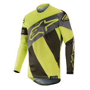 Maillot cross RACER TECH ATOMIC BLACK YELLOW FLUO GRAY 2019 Black Yellow Fluo Gray