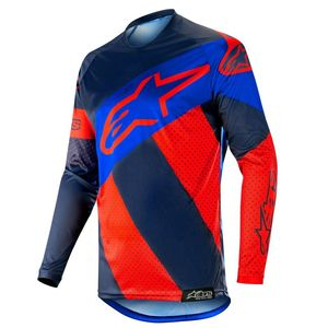 Maillot Cross Alpinestars Racer Tech Atomic Red Dark Navy Blue 2019