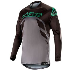 Maillot Cross Alpinestars Racer Tech Compass Black Mid Gray Teal 2019