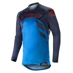 Maillot Cross Alpinestars Racer Tech Compass Dark Navy Mid Blue Burgundy 2019