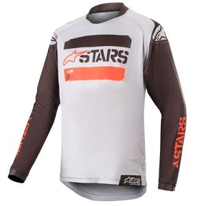 Maillot Cross Alpinestars Youth Racer Tactical Black Gray Red Fluo 2019