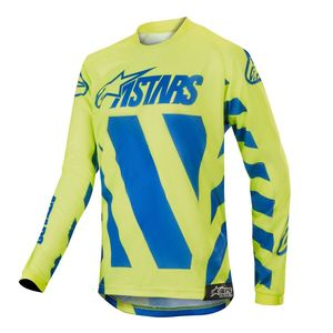 Maillot Cross Alpinestars Youth Racer Braap Blue Yellow Fluo 2019