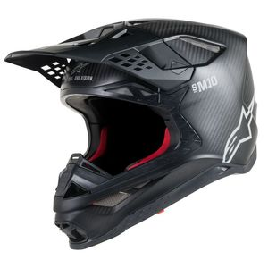 Casque cross SUPERTECH S-M10 SOLID 2019 Black Matt Carbon
