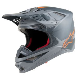 Casque cross SUPERTECH S-M10 META ANTHRACITE GRAY ORANGE FLUO 2019 Anthracite Gray Orange Fluo