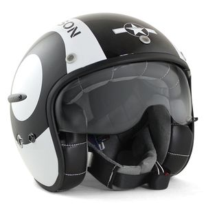 Casque SNOOKER  Noir brillant/Blanc Brillant