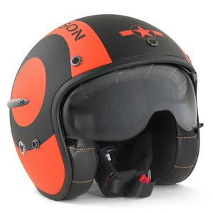 Casque SNOOKER  Noir mat/Orange mat