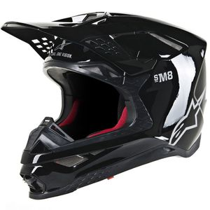 Casque cross SUPERTECH S-M8 - SOLID - BLACK GLOSSY 2021 Black Glossy