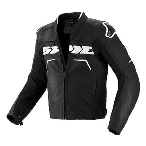 Blouson Spidi Evorider Leather Wind Perforated Black