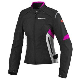 Blouson FLASH TEX LADY  Noir/Fushia