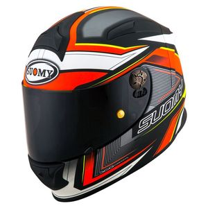 Casque SR SPORT - ENGINE - MATT  Matt Black Red