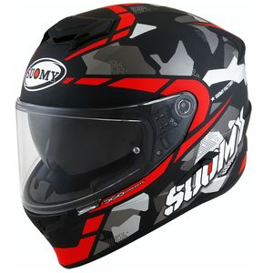 Casque STELLAR - RACE SQUAD MATT  Matt Black Red
