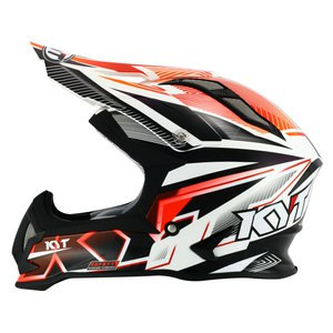 Casque cross STRIKE EAGLE STRIPE BLANC ROUGE FLUO 2017 Blanc/Rouge fluo